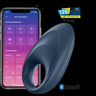 Виброкольцо Satisfyer Mighty One с возможностью управления через смартфон