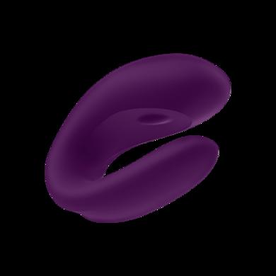 Парный вибратор Satisfyer Double Joy с возможностью управления через смартфон фиолетовый