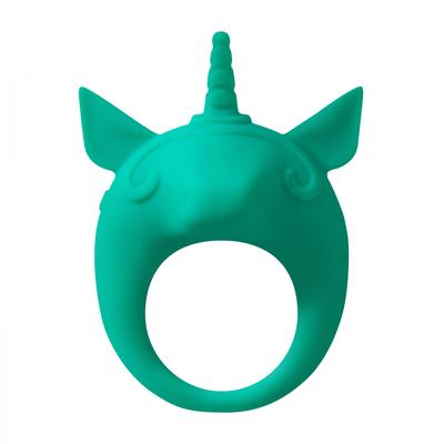 Виброкольцо эрекционное зеленое Mimi Animals Unicorn Alfie