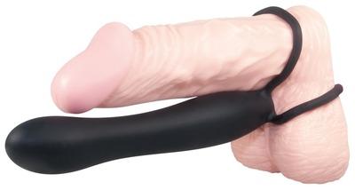 Насадка для двойного проникновения с кольцами для пениса Anal Special Silicone