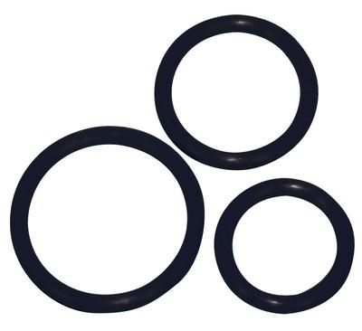 Набор черных эрекционных колец Sexy Circles