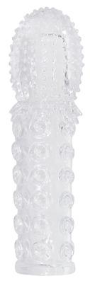 Стимулирующая прозрачная насадка для пениса Crystal Clear