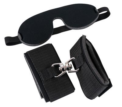 Набор БДСМ: наручники и маска на глаза черные