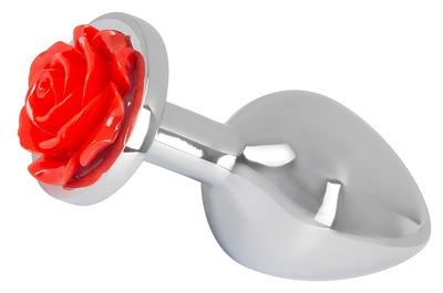 Анальная пробка со стразом в виде розы Butt Plug Rose