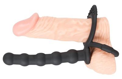 Эрекционное кольцо с анальным стимулятором Black Velvets