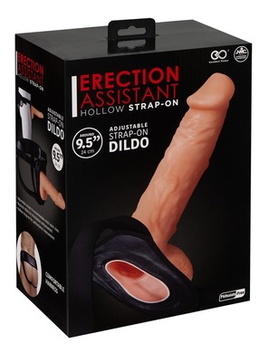 Фаллопротез на ремнях Erection Assistant Hollow Strap-On