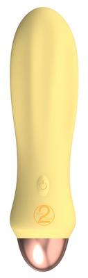 Перезаряжаемый мини-вибратор желтый Cuties