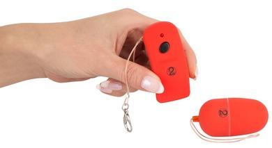 Виброяйцо красное с пультом дистанционного управления Lust Control Red