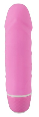 Розовый реалистичный мини-вибратор Little Darling