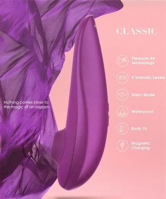 Бесконтактный вакуумно-волновой стимулятор клитора Womanizer Classic пурпурный