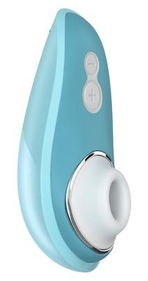 Бесконтактный вакуумно-волновой стимулятор клитора голубой Womanizer Liberty