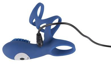 Перезаряжаемое виброкольцо-насадка со стимулятором клитора Smile Rechargeable Couple