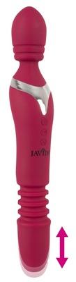 Перезаряжаемый двухсторонний многофункциональный нагреваемый вибромассажер Javida Massage Wand Warming & Thrusting Vibe