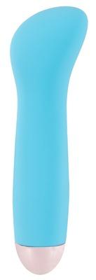 Перезаряжаемый голубой мини-вибратор для G-точки Cuties Mini blue