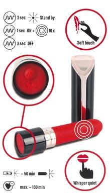 Мини-вибратор в форме помады перезаряжаемый Lipstick Vibrator