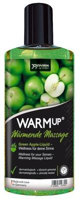 Съедобное разогревающее массажное масло со вкусом зеленого яблока JoyDivision WARMup (150 мл)