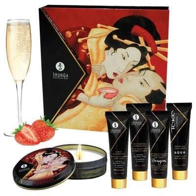 Набор Shunga Geisha Secret с ароматом клубники и шампанского