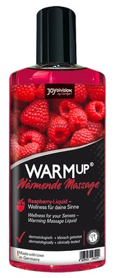 Съедобное разогревающее массажное масло со вкусом малины JoyDivision WARMup (150 мл)
