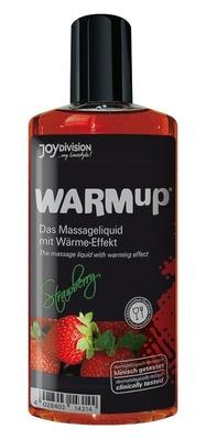 Съедобное разогревающее массажное масло со вкусом клубники JoyDivision WARMup (150 мл)