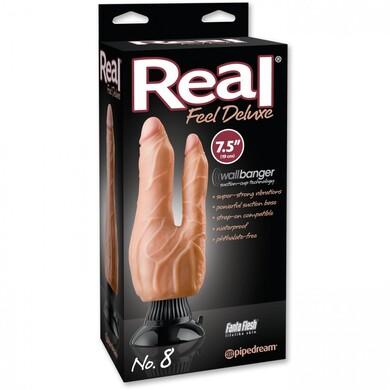 Фаллоимитатор двойной с вибрацией Real Feel Deluxe No.8 Flesh