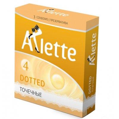 Точечные презервативы Arlette Dotted (3 шт)