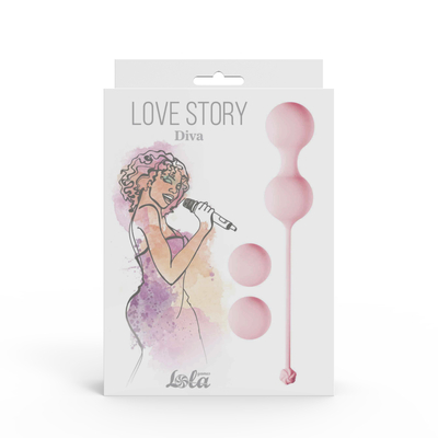 Набор вагинальных шариков Love Story Diva Tea Rose розовый