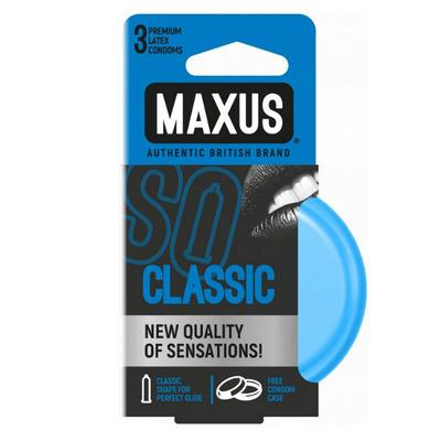 Презервативы Maxus классические в железном кейсе (3 шт)