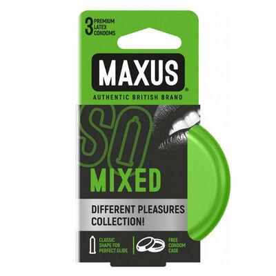 Презервативы Maxus микс в железном кейсе (3 шт)