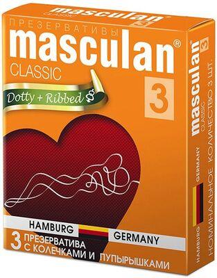 Презервативы Masculan-3 Classic с колечками и пупырышками (3 шт)
