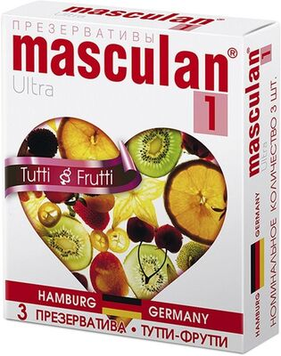 Презервативы Masculan-1 Ultra с ароматом тутти-фрутти (3 шт)
