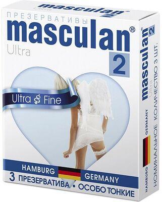 Презервативы Masculan-2 Ultra №3 особо тонкие, прозрачные, с обильной смазкой