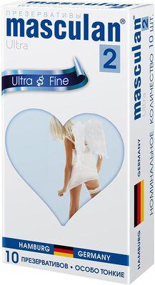 Презервативы Masculan-2 Ultra №10 особо тонкие, прозрачные, с обильной смазкой