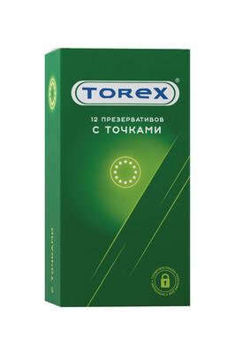 Презервативы латексные точечные TOREX (12 шт)