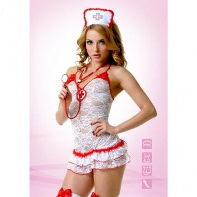 Костюм Медсестры кружевной S/M