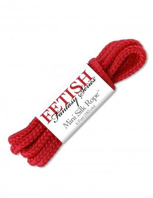 Бондажная верёвка FF Mini Silk Rope красная