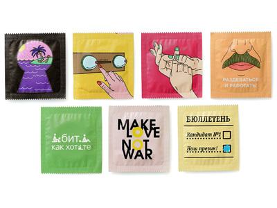 Набор презервативов с принтом (7 шт)