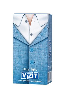 Презервативы ультратонкие VIZIT Ultra light (12 шт)