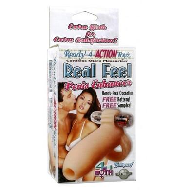 Насадка на пенис с вибрацией Ready-4-Action Real Feel Penis Enhancer