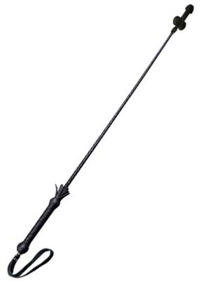 Короткий черный стек c наконечником в виде фаллоса