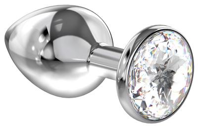 Анальная пробка Diamond Clear Sparkle Large