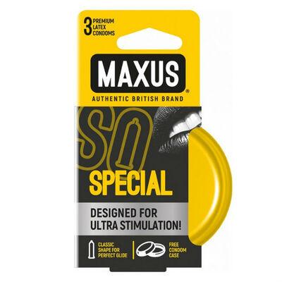 Презервативы Maxus точечно-ребристые в железном кейсе (3 шт)