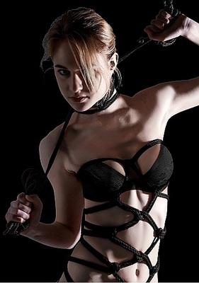 Веревка для связывания черная Thick Bondage Rope 10 м