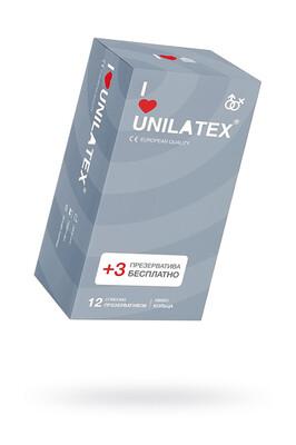 """Презервативы UNILATEX №12 """"DOTTED"""" с точечной поверхностью(12+3)"""