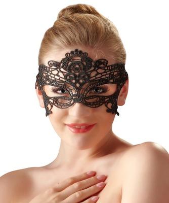 Изысканная круженая маска на глаза черная Coletti