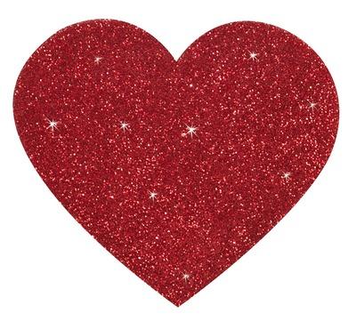 Пэстисы в форме красных сердечек с глиттером Coletti Accessories