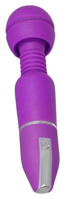 Фиолетовый вибромассажер Deep Vibrations Wand