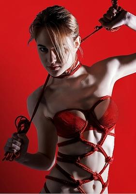 Веревка для связывания красная Thick Bondage Rope 10 метров