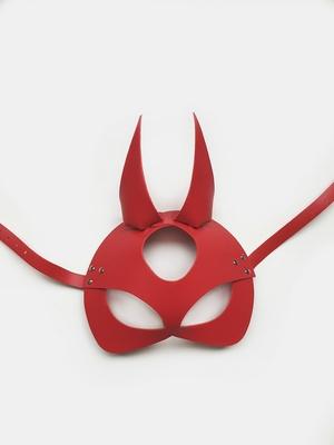 Маска Дьявола из натуральной кожи красная Erotoys Fetish line, Ero-107r