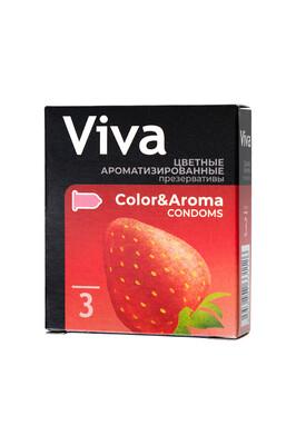 Презервативы латексные цветные ароматизированные VIVA (3 шт)
