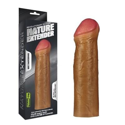 Насадка на пенис Revolutionary Silicone Nature Extender мулат плюс 6 см